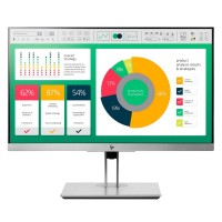 "HP EliteDisplay E223 - LED monitor - 21.5"" - 1920 x 1080 Full HD (1080p) - IPS - 250 cd/m² - 1000:1 - 5 ms - HDMI, VGA, DisplayPort - silver, black (rear cover) - Smart Buy"