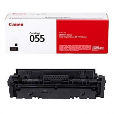 Canon 055 - Black - original - toner cartridge - for Color imageCLASS MF743Cdw; ImageCLASS LBP664Cdw, MF741Cdw, MF743Cdw, MF745Cdw