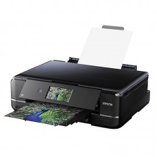 Epson Expression Photo XP-960 - Multifunction printer - color - ink-jet - Legal (8.5 in x 14 in) (original) - Ledger (media) - up to 8.1 ppm (copying) - up to 28 ppm (printing) - 120 sheets - USB 2.0, LAN, Wi-Fi(n), USB 2.0 host - black, blue