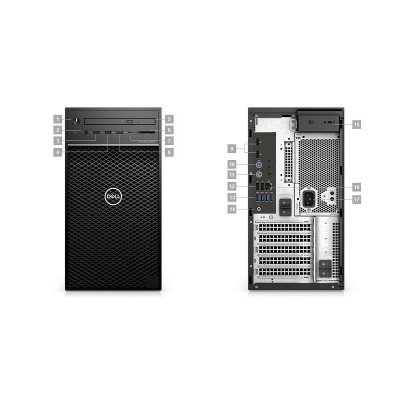 Dell Precision 3640 Tower - MT - 1 x Core i5 10500 / 3.1 GHz - vPro - RAM 8 GB - HDD 1 TB - DVD-Writer - UHD Graphics 630 - GigE - Win 10 Pro 64-bit - monitor: none - BTP - with 3 Years Hardware Service with Onsite/In-Home Service After Remote Diagnosis -