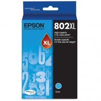 Epson 802XL With Sensor - High Capacity - cyan - original - ink cartridge - for WorkForce Pro WF-472