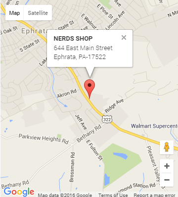 NERDS SHOP - MAP